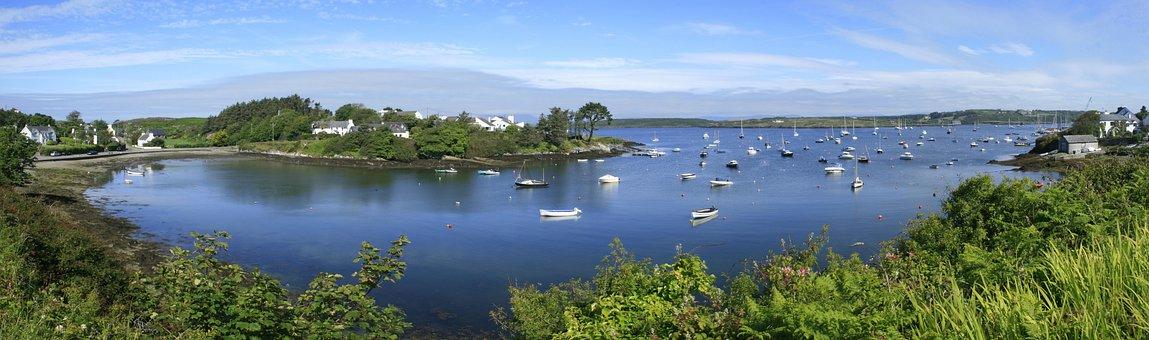 Bay, Cork, Baltimore, Ireland, Boats, Sea, Blue