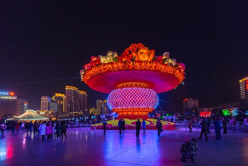 Chinese New Year, Xining Center Square, Lantern Baskets