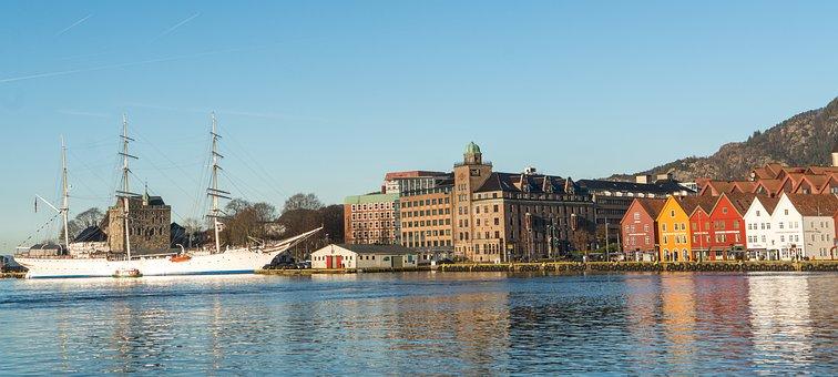 Bergen, Norway, Scandinavia, City, Europe, Architecture