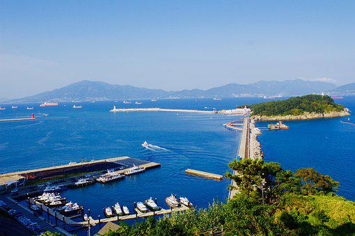 Yeosu, Yeosu Sea, Port, Beach, Coastal, Sea, Times