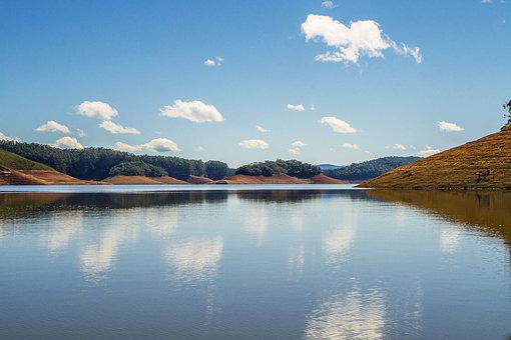 Dam, Water, São Paulo, Paraibuna, Landscape, Weir, Pond