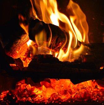 Fire, Lena, Flames, Campfire, Embers