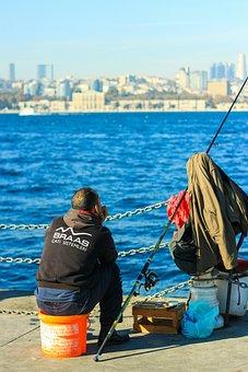 Fisherman, Fishing Rod, Marine