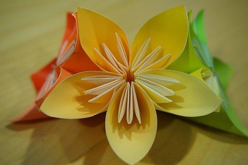 Origami, Flower, Paper Folding, Modules