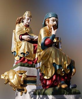 Art, Figure, Statue, Golden, Beautiful Fountain