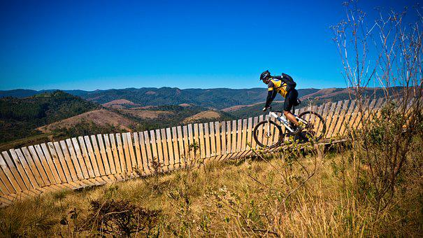 Mountain, Trail, Singletrack, Horizon, Landscape