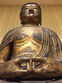 Buddha, Statue, Religion, Amitabha, Sculpture, Asia