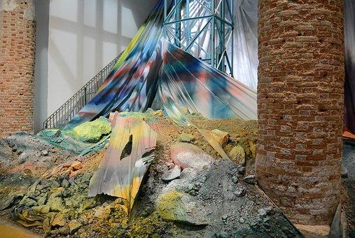 Art, Color, Architecture, Scaffold, Stones, Scree