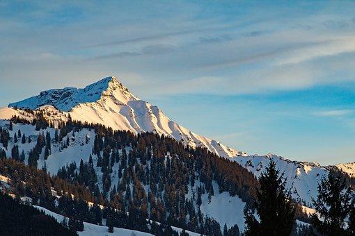 Vorarlberg, Ebnit, Austria, Mountains, Winter, Snow