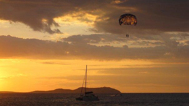 Sunset, The Sun, West, Light, Sea, Evening, Nature