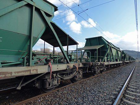 Railway, Comboy Goods, Cargo Train, Train, Via, Rails