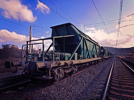 Goods, Railway, Cargo Train, Via, Railways, Transport