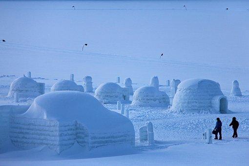 Lake, Frozen, Shikaribetsu, Freezing, Evening, Winter