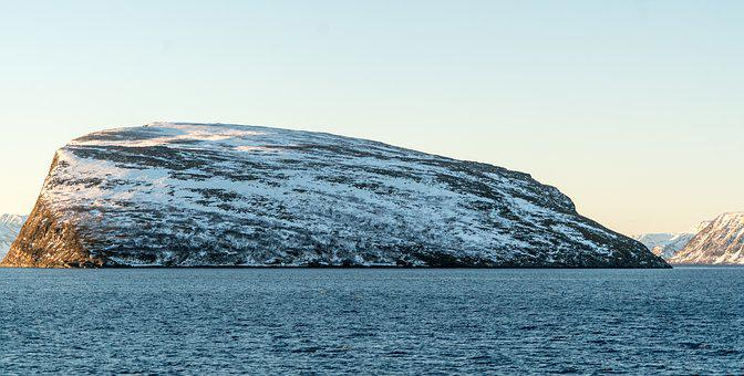Largest Rock, Norway, Sea, Winter, Snow, Nature