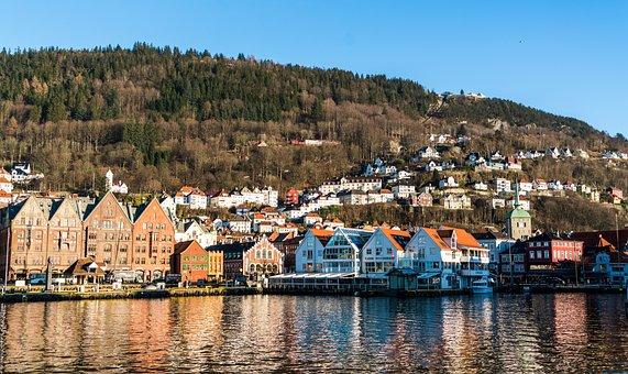 Bergen, Norway, Architecture, Harbor, Water, Bryggen