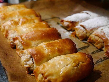 Strudel, Baking, Pastry, Apple