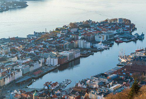 Bergen, Norway, Elevated View, Scandinavia