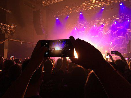 Concert, Film, Photo, Crowd, Audience, Disturb