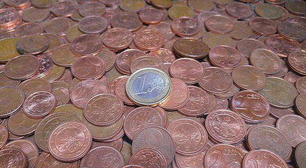 Money, Coins, Euro, Cent, Copper, Brass, Metal