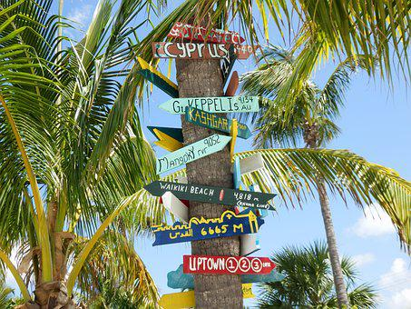 Florida, Keeps, Easy-going, Directional Arrows