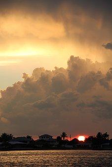 Dramatic Abendstimmung, Storm Clouds, Abendstimmung