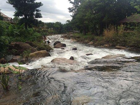 Water, Fall, Aflutter