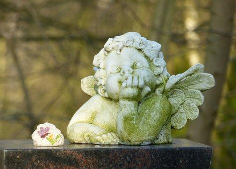 Angel, Figure, Faith, Hope, Ceramic, Sculpture