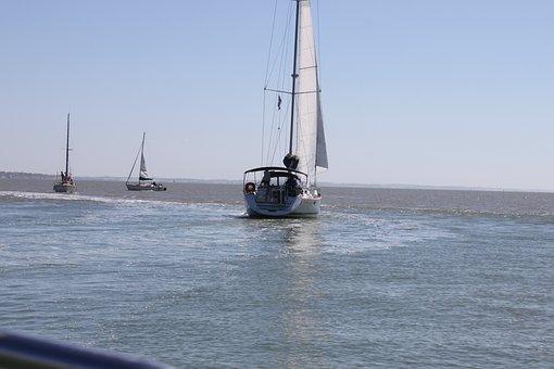 Boat, Estuary, Gironde