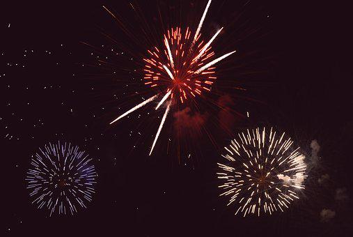 Fireworks, Night, Summer, Colorful, Feast, Sky, Hot