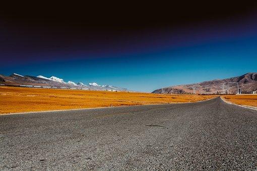 Tibet, Highway, Lalu Wetland, Nyainqentanglha