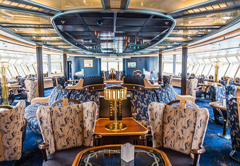 Hurtigruten, Finnmarken, Cruise Ship, Lounge