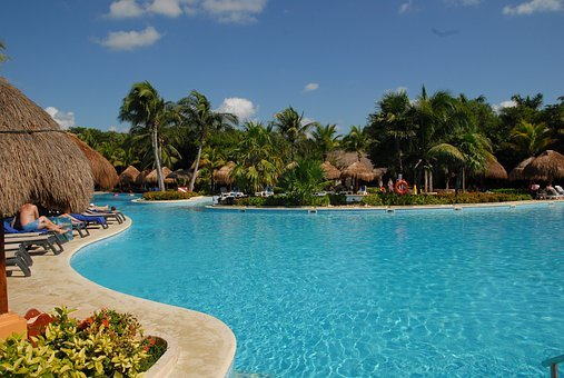 Mexico, Holiday, Cancun, Water, Summer, Caribbean, Pool