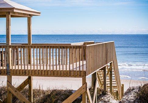 Ocean, Beach, Beachfront, Beach House, Sand, Water, Sea