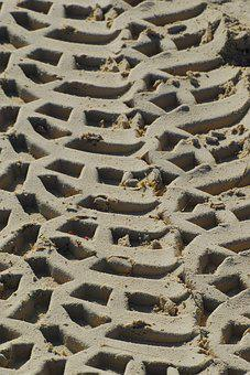 Beach, Sand, By The Sea, Ocean, Sand Beach, Pattern