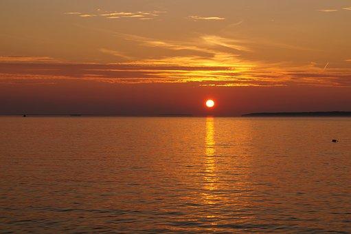 Sunset, Brucepeninsula, Canada, Ontario, Travel, Bay