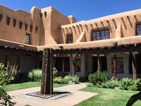 Building, Santa Fe, Southwestern, Architecture, Travel