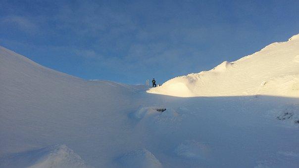 Snow, Downhill Skiing, Sky, Slalom, Winter, Mountain