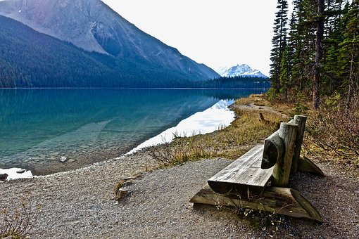 Seat, Wooden, Chair, Tranquil, Outdoors, View, Water