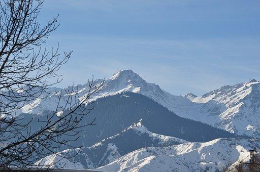 Alma-ata, Mountains, Winter