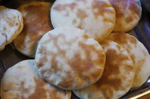 Baked, Bread, Pita, Arabic Bread