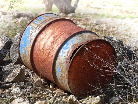 Barrel, Rusty, Waste, Fuel, Old