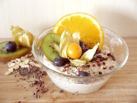 Porridge, Muesli, Breakfast, Vegan, Oatmeal, Chia