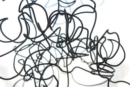 Wire, Node, Gordian, Flurry, Loop, Black White