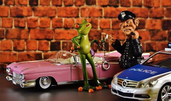 Police, Cadillac, El Dorado, Frog, Chick