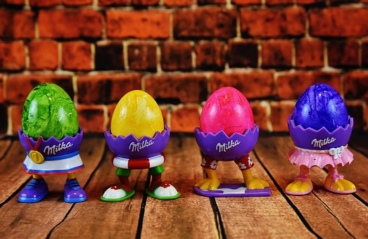 Egg, Egg Cups, Feet, Funny, Easter, Colorful Eggs