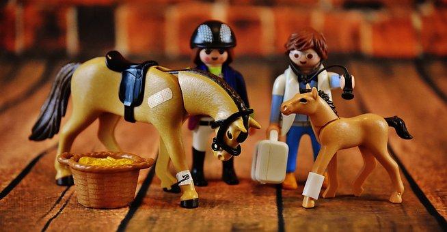 Playmobil, Horses, Injured, Veterinarian