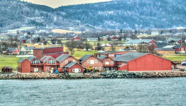 Norway Coast, Architecture, Mountains, Landscape