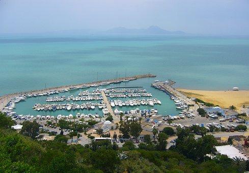Seascape, Landscape, Sea, Bay, Journey, Tunisia