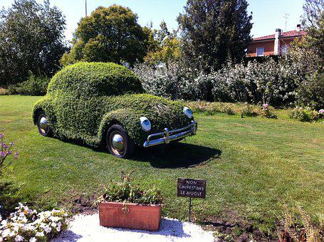 Beetle, Green, Eco, Love Not War, Meadow, Auto