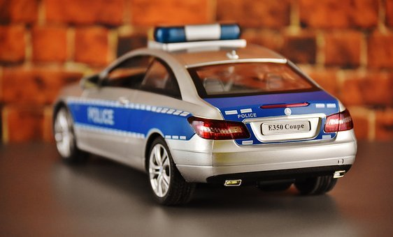 Police Car, Mercedes Benz, Model Car, Police